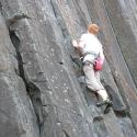 Skinner's Butte Climbing Columns - Climber Close 2