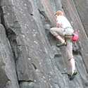 Skinner's Butte Climbing Columns Climber Close Up