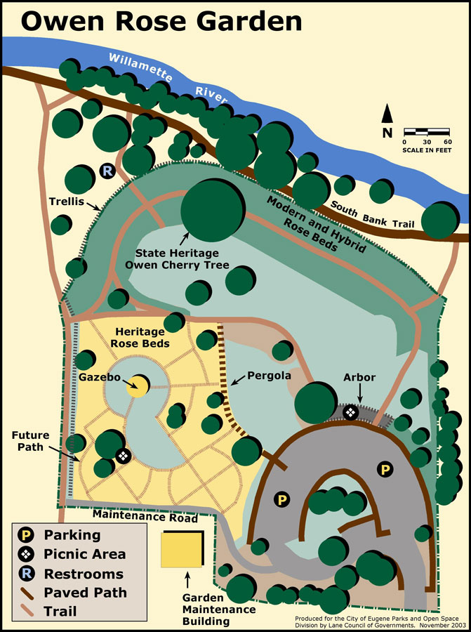 Owen Rose Garden Map
