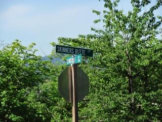 Street Sign Skinner Butte & Lincoln