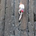 Skinner\'s Butte Climbing Columns - Climber 2