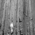 Skinner\'s Butte Climbing Columns - Climber