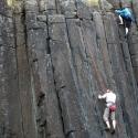 Skinner\'s Butte Climbing Columns - Climbers