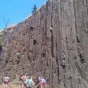 Skinner\'s Butte Climbing Columns -Vertical Shot
